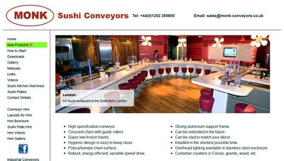 Sushi Conveyors Website